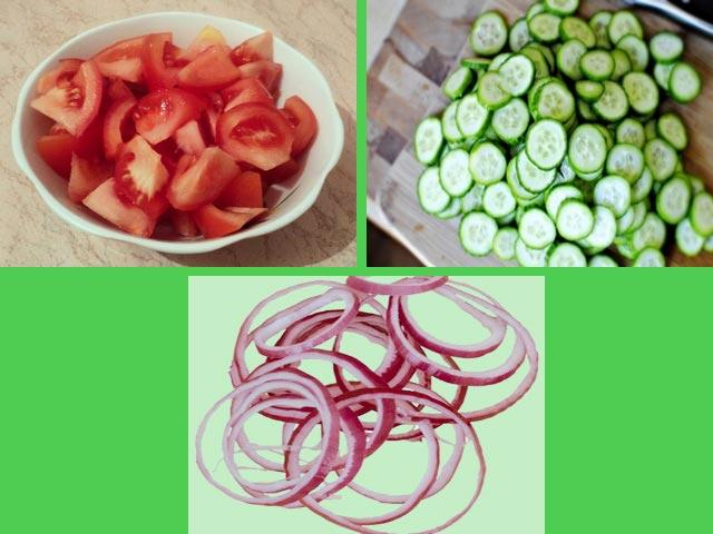 Моем и режем овощи