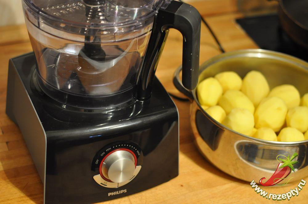 Перетереть картошку для драников