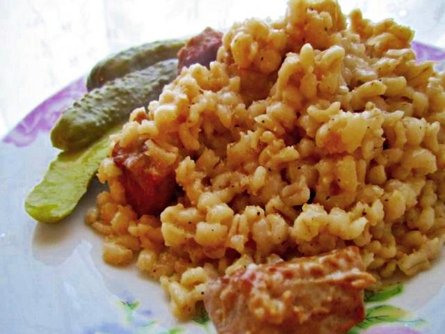 перловая каша с колбасой рецепты