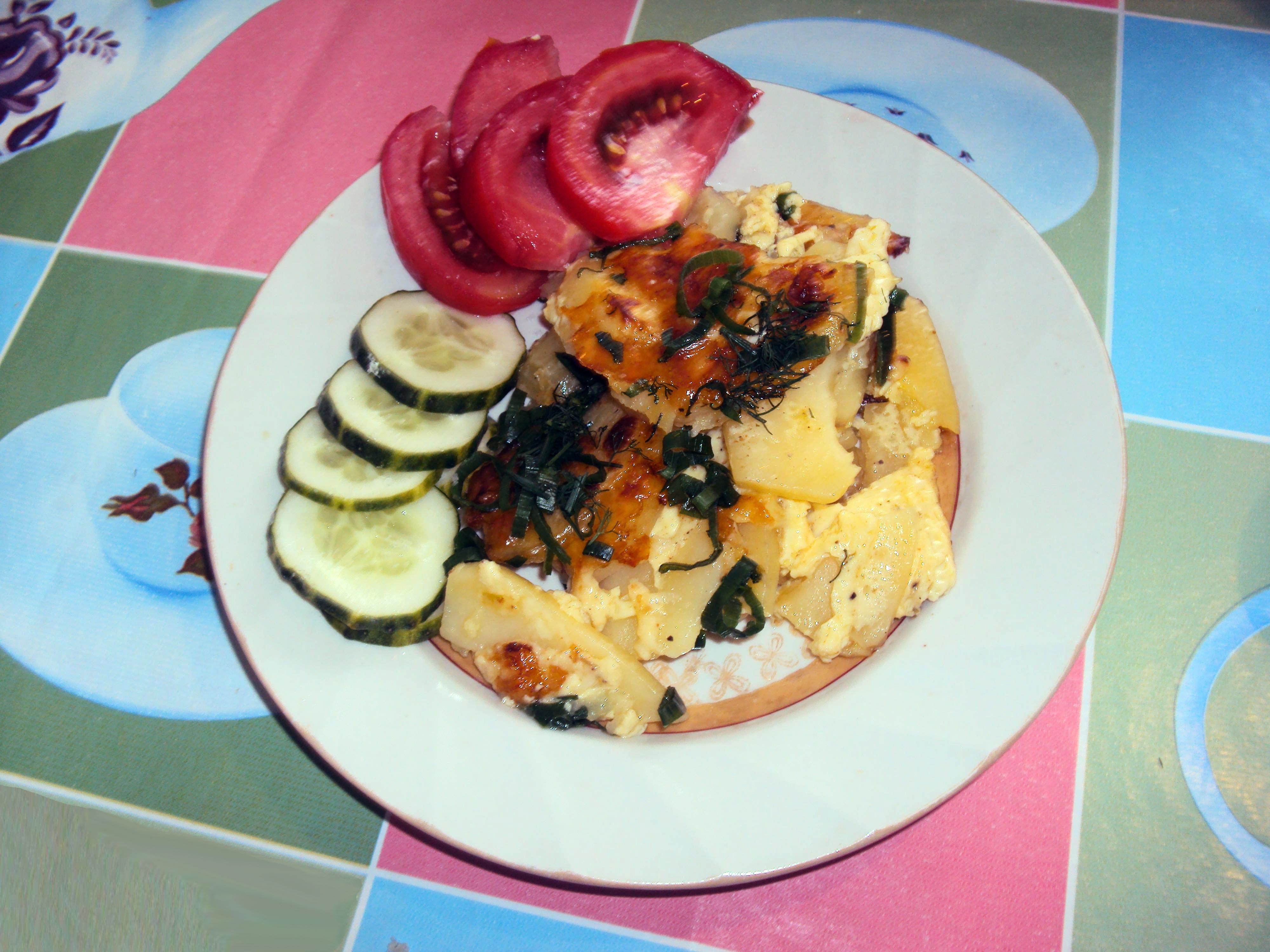 Картошка в духовке под сметаной рецепт