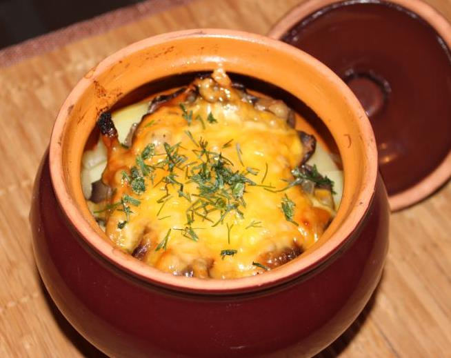 картофель с мясом в горшочках в духовке рецепты с фото