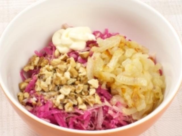 Ингредиенты для салата из редьки
