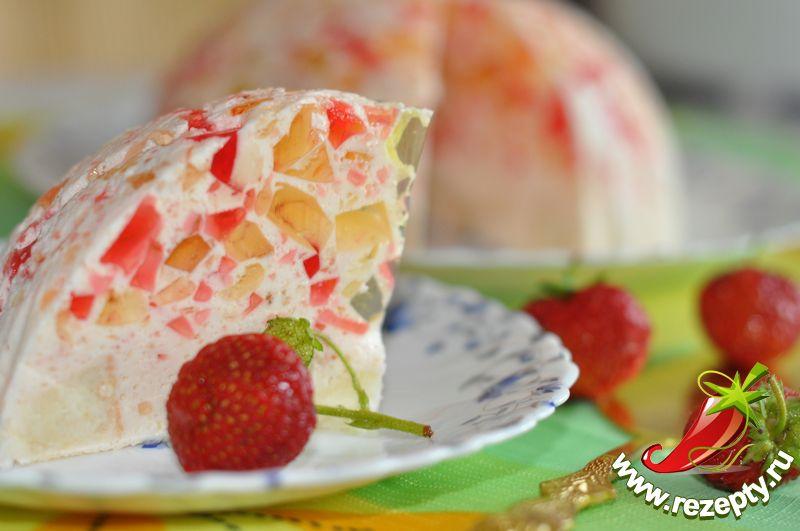 Желейный торт Мозаика