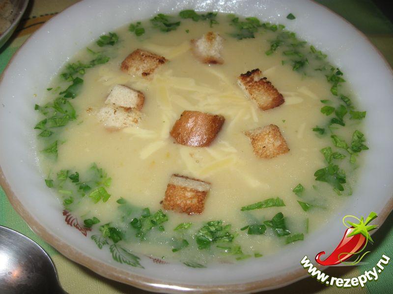 Картофельный суп на грибном бульоне