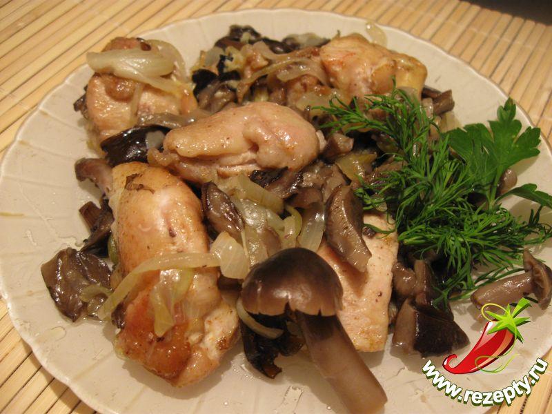 Курица с грибами кулинарные рецепты