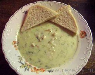 Сметанный суп из лосося