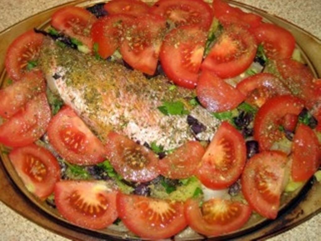 рецепт с окунем в духовке