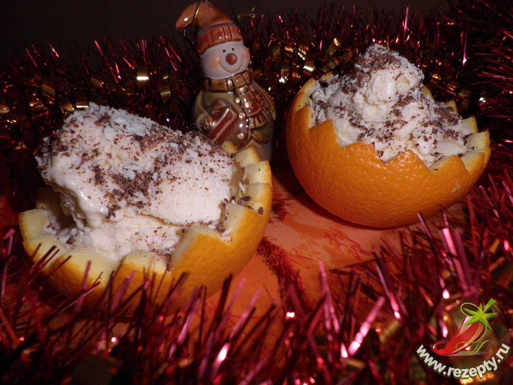 Десерт «Новогодний лед» – кулинарный рецепт