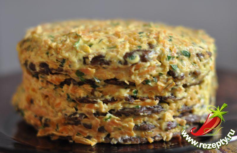 Печеночный торт рецепт пошагово с начинкой