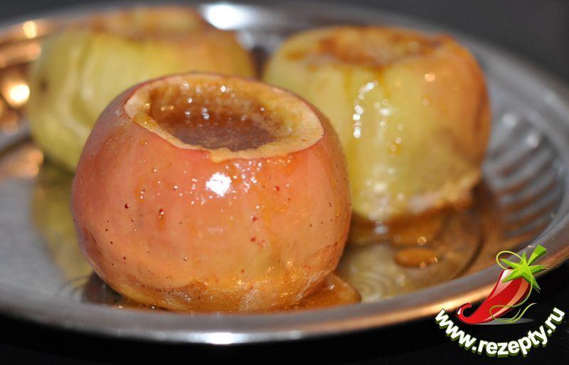 Яблоки с медом в духовке рецепт с пошагово