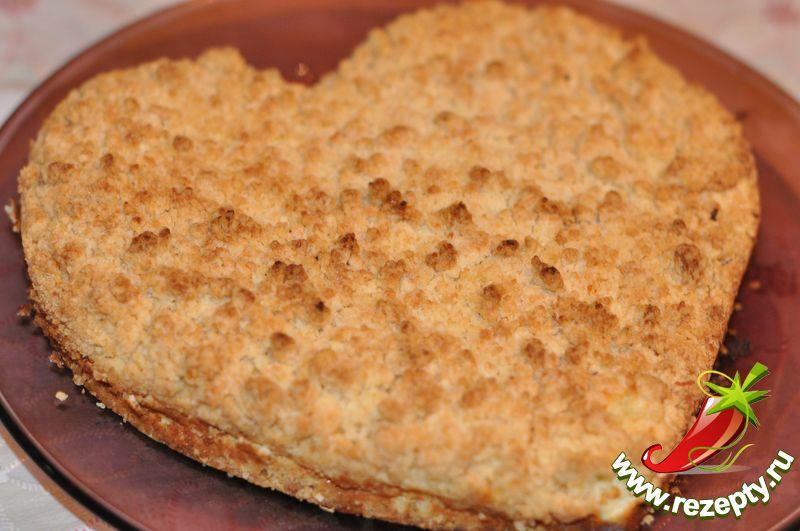 Пирог с крошкой с творогом рецепт с пошагово