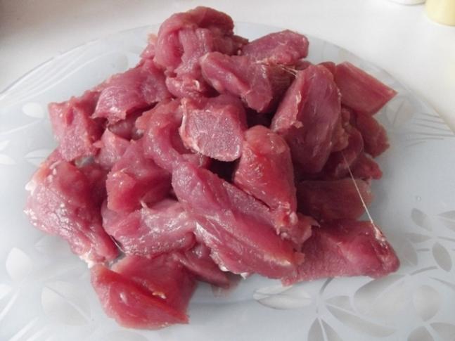 помыть мясо