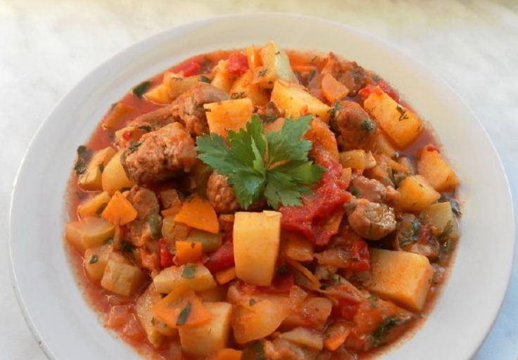 Рагу с мясом и овощами рецепт с фото в мультиварке