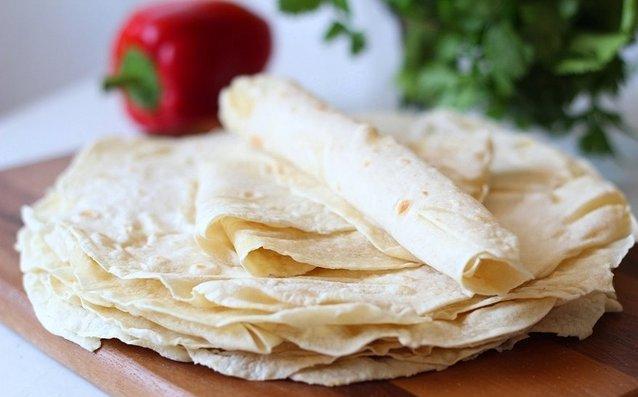 Рецепт приготовления лаваша из бездрожжевого теста от Елены