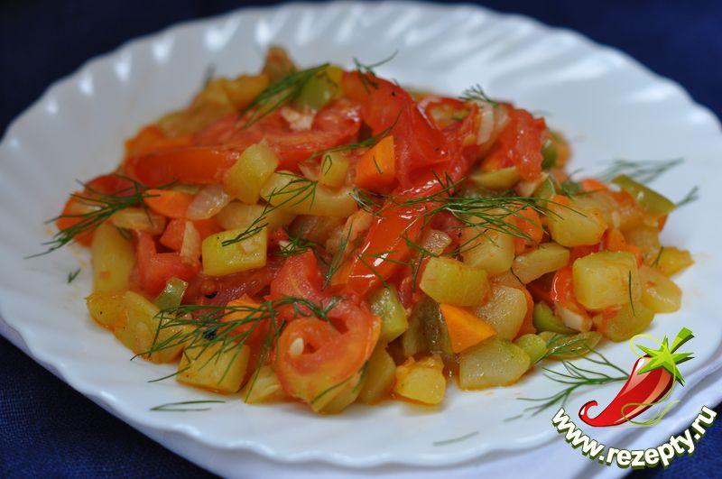 рецепты рагу с кабачками