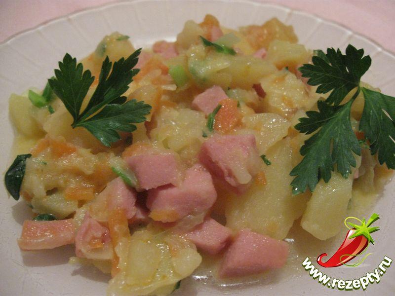 Рецепт тушёных овощей