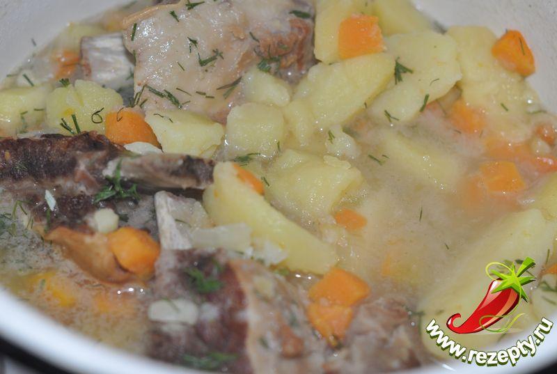 Печень с картошкой суп