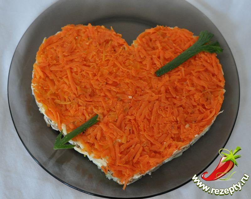 салаты ко дню влюбленных: