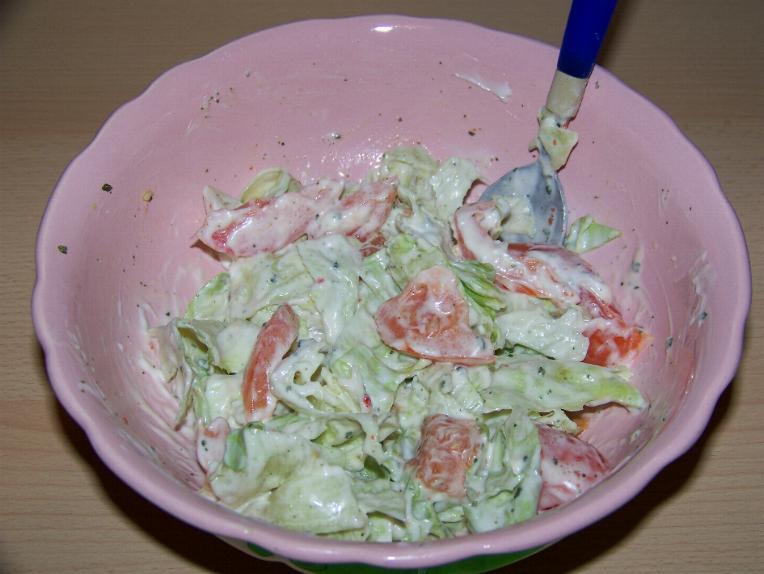 Салат простой овощной