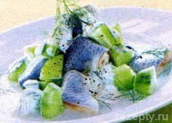Селёдка в укропном соусе