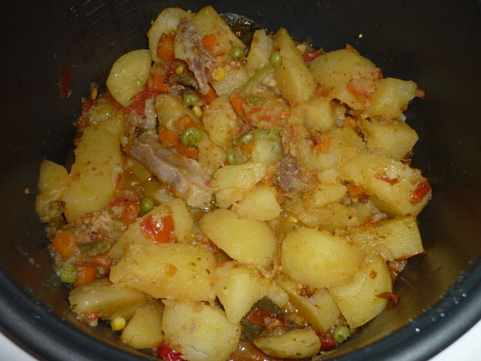 Блюда с замороженными овощами с мясом