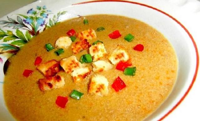 Суп пюре из печени