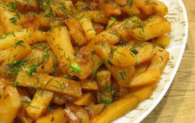 жареная картошка с шампиньонами в мультиварке рецепты