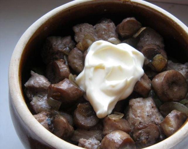 картофель и грибы