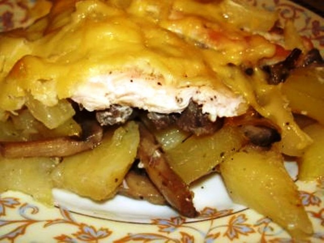 Рецепты с куриным филе и картофелем в духовке