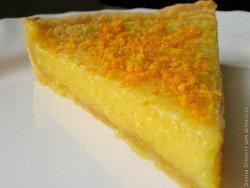 Десерт из апельсина в песочной корзине