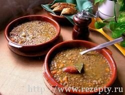 Бразильский суп-пюре из чечевицы