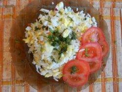 Рисовая каша с яйцом