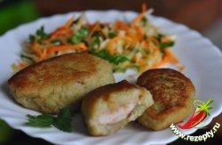 Картофельные колеты с мясом