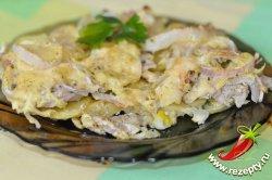 Картошка по-французски с курицей