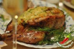Курица с начинкой в духовке