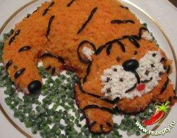 Новогодний салат Тигрёнок