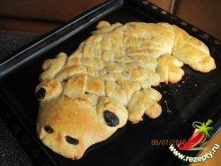 Пирог с начинкой «Крокодил»