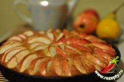 Постная коврижка с яблоками