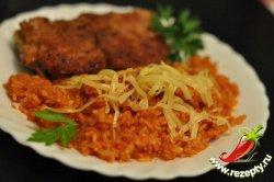 Рисовая каша с томатом и сыром