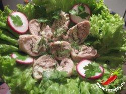 Закусочные рулетики из курицы с омлетом