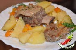 Тушёные рёбрышки с картошкой