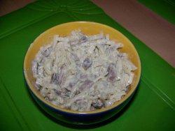 Салатик из редьки и языка