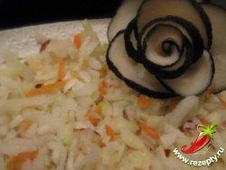 Салат из чёрной редьки