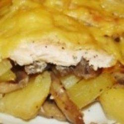 Рецепт картошки с грибами в духовке