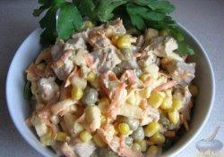 Салат из свинины вареной