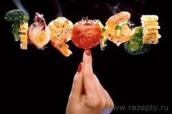 Шашлык из лосося с креветками