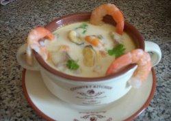 Сливочный суп с креветками