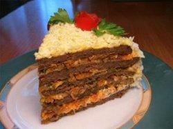Торт из печени – рецепт