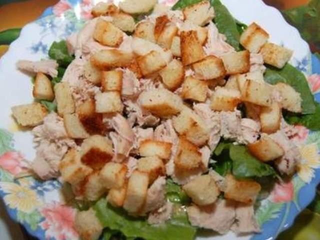 Цезарь салат классический пошагово