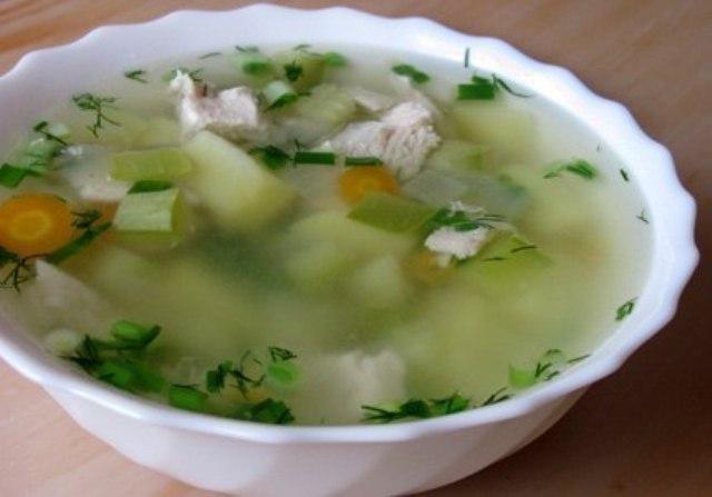 суп деревенский с курицей